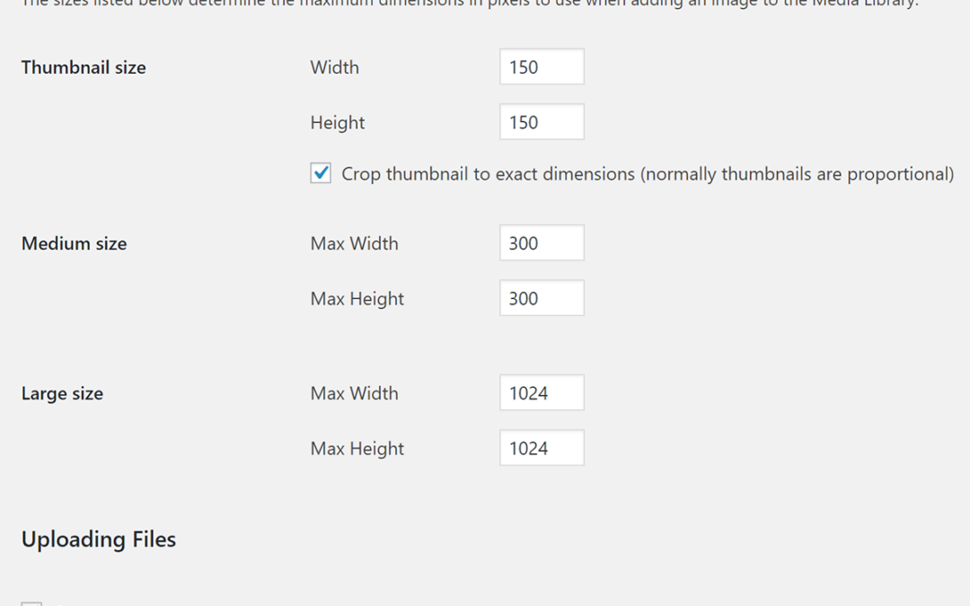 Default WordPress Image Sizes and How to add Custom Sizes