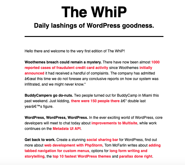 Celebrating 1000 Editions Of The WhiP! + Special Giveaway