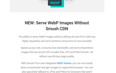 Smush Pro Now Supports Local WebP Conversion (No CDN Required)